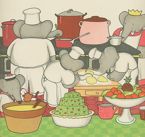 elephants cooking